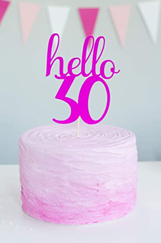 Fine Hello Age Cake Topper Any Age Cake Topper Man Or Womans Birthday Cards Printable Opercafe Filternl