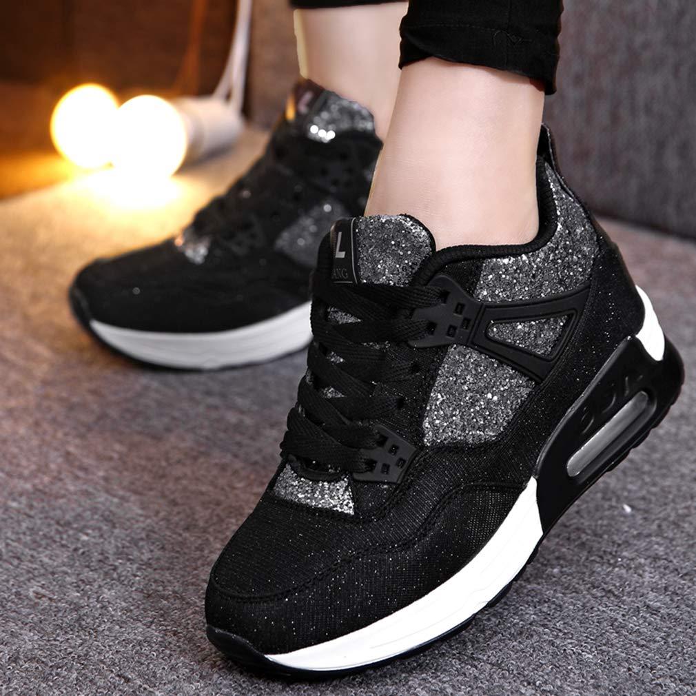 Amazon.com | Bling Womens Casual Shoes Spring Autumn Breathable Women Shoes Wedges Light Soft Black Shoes Zapatillas Deportivas Hombre | Shoes
