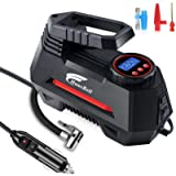 HAUSBELL Portable air Compressor for Car Tires, 12V DC Air Compressor tire inflator Pump, 150 PSI with Emergency LED…