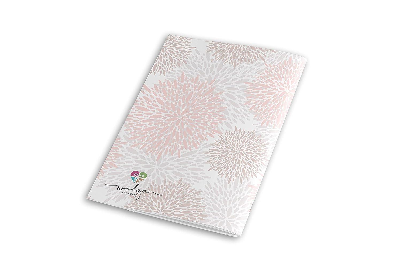 wolga-kreativ Mutterpassh/ülle Blumenmuster 3-teilig Schwangerschaft Geschenk Idee Umschlag ohne Namen