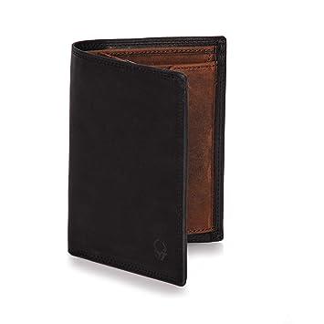 d228d3a19875f Donbolso Herren Leder Geldbörse Wien - Großes Portemonnaie für Männer - Wallet  schwarz braun mit Doppelscheinfach