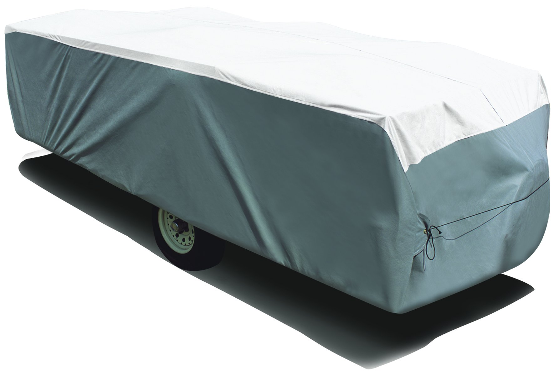 ADCO 22894 Pop Up Trailer Tyvek & Polypropylene Cover - 14'1'' to 16', Gray