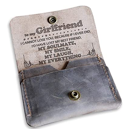 Amazon To My Girlfriend Leather Wallet