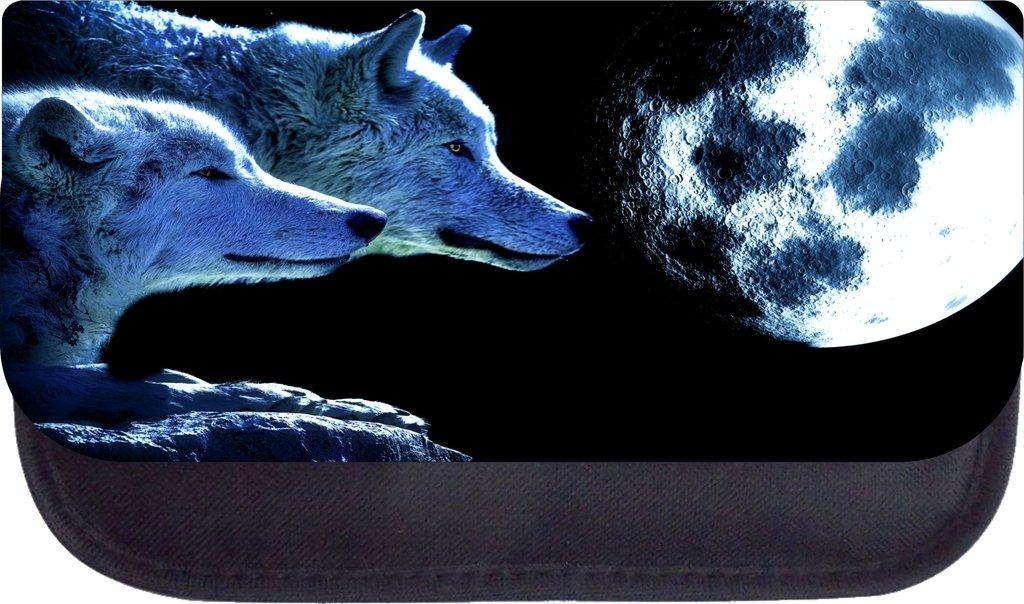 Wolves in the Moonlight Lea Elliot TM School Messenger Bag and Pencil Case SET
