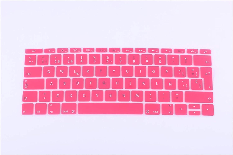 12 inch Silicone Spanish Waterproof Keyboard Cover for New MacBook 12 Retina//New Pro 13 with Retina Keyboard Film Sticker-Yellow