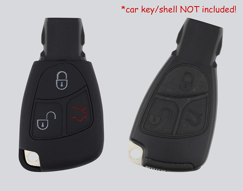 Rouge ASARAH Mercedes Benz Couvercle de cl/é en Silicone Premium Couvercle de Protection pour cl/és de Voiture Couvercle pour Type de cl/é 3BKL-b