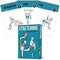 Stretching Flexibility Exercise Cards - 50 Stretching Exercises ? Increase Flexibility ? Prevent Muscle Strains Promote Circulation + Speed up Recovery Time - Large Durable Cards