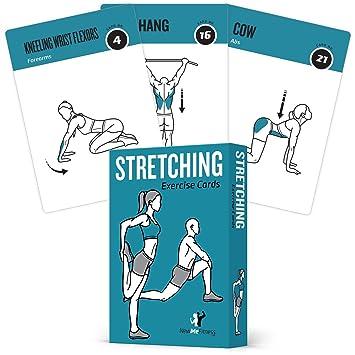 Tarjetas de ejercicios de flexibilidad NewMe, 50 ejercicios de estiramientos, ideales para aumentar la