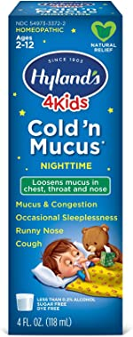 Cold Medicine for Kids Ages 2+ by Hyland's, Nighttime Cold 'n