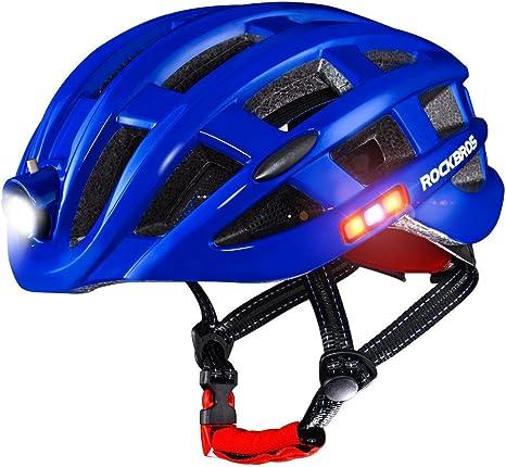 ROCKBROS Casco con Luz Inteligente para Ciclismo Carga USB ...