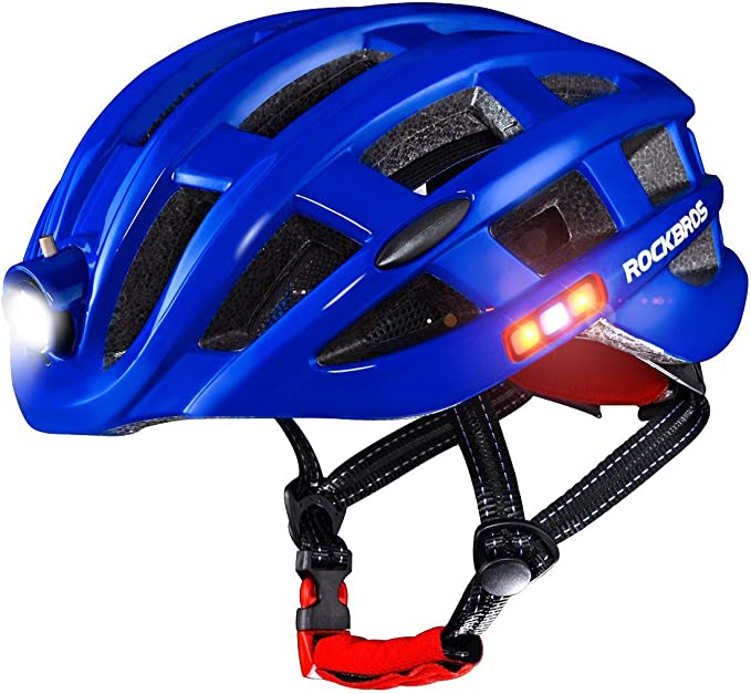 RockBros Cycling Helmet Size 57-62cm Helmet with USB Rechargeable Light Black