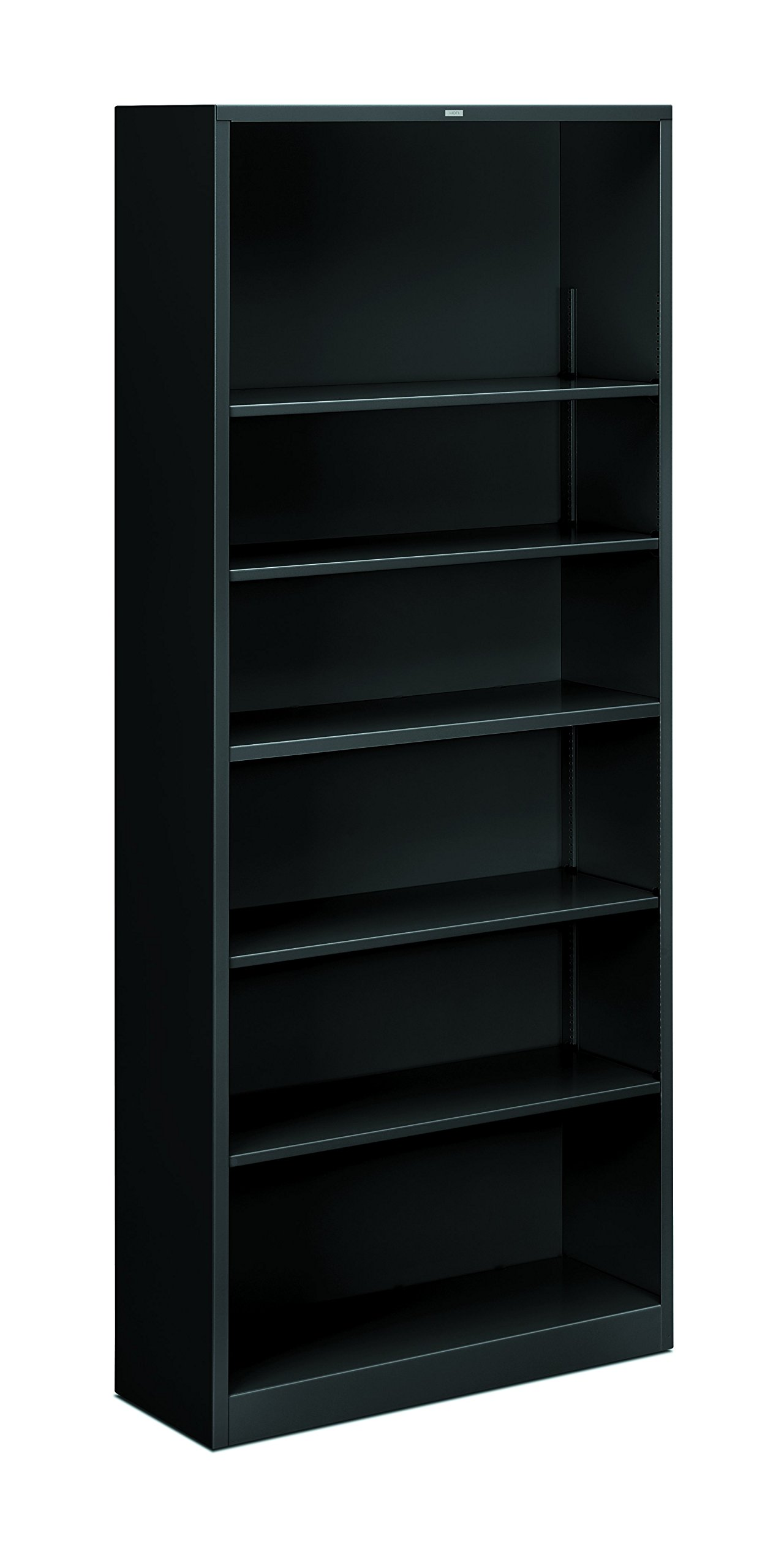 HON Brigade Metal Bookcase - Bookcase with Six Shelves, 34-1/2w by 12-5/8d by 81-1/8h, Black (HS82ABC) by HON