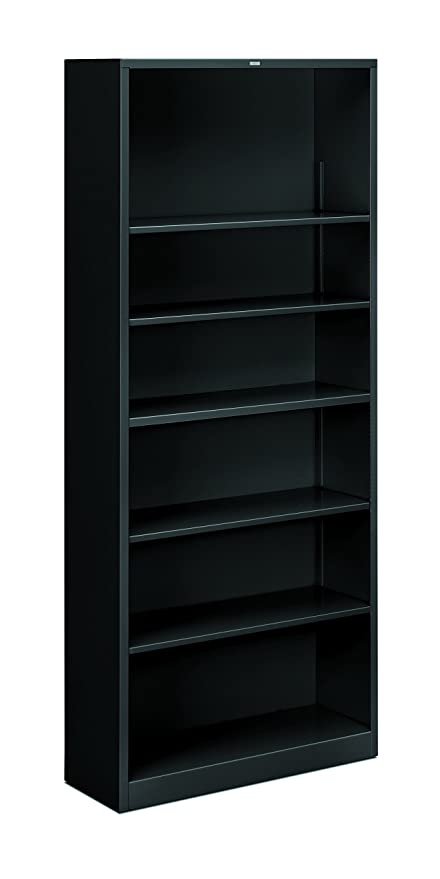 Hon Brigade Metal Bookcase Bookcase With Six Shelves 34 1 2w By 12 5 8d By 81 1 8h Black Hs82abc