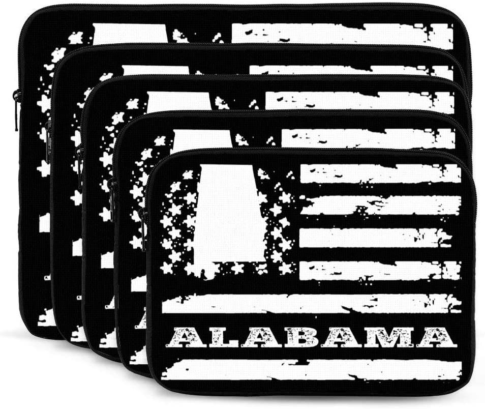 Alabama State American Flag Laptop Sleeves Bag Notebook Protective Bag Computer Zipper Cover Pouch 17 Inch Laptops