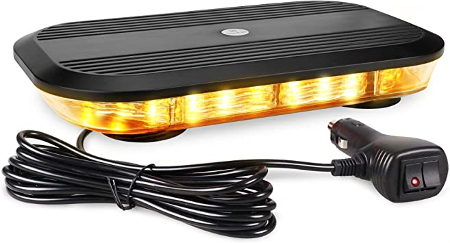 12v24v Flashing Beacon Magnetic Lightbar Truck Warning Light Strobe UK