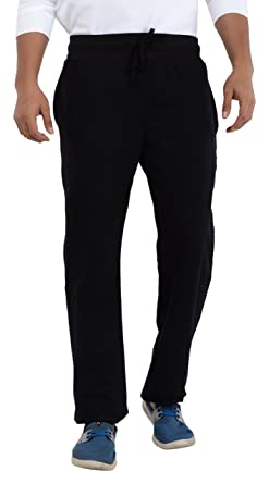 fc6cc9fc76 EASY 2 WEAR Men's Cotton Knitted Track Pant (Sizes S to 4XL) Plus Size  avai. (Black)