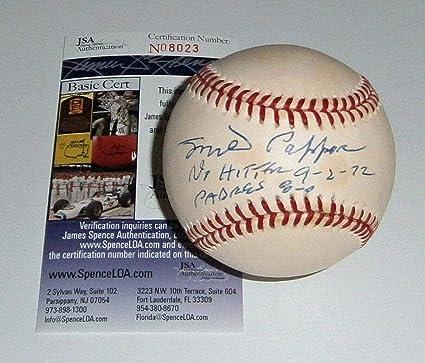 Milt Pappas Autographed/signed Official Major League Baseball 100% Original Autographs-original