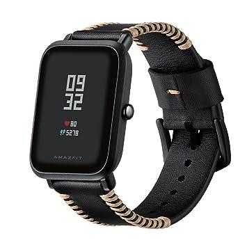HappyTop Huami Xiaomi Amazfit - Correa de repuesto para reloj inteligente (20 mm de ancho