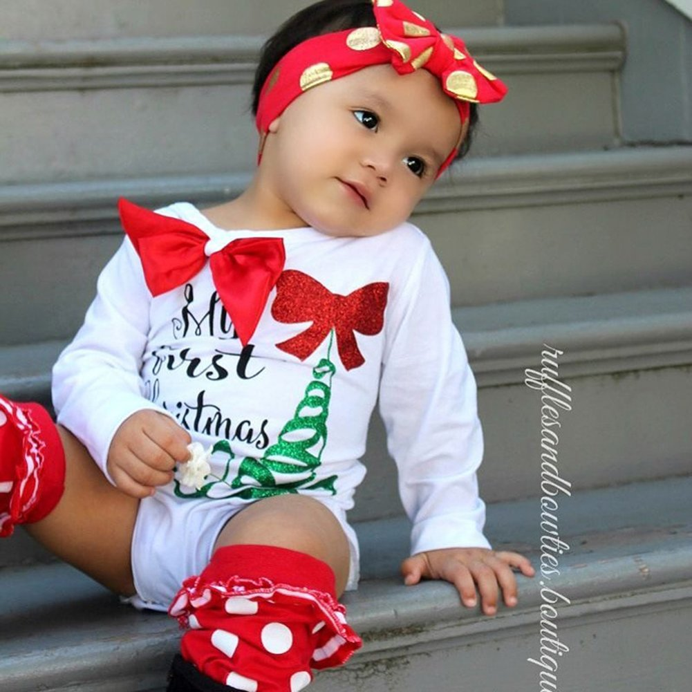 D-Sun Infant Baby Boy Girl Christmas Romper Jumpsuit Outfits Clothes Costume