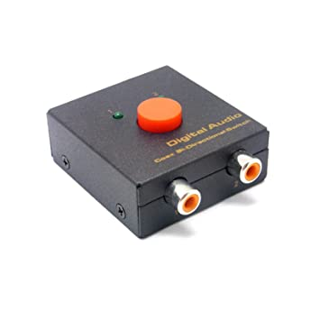 Conmutador audio digital coaxial Coax Switcher Selector 2x1 1x2  ...