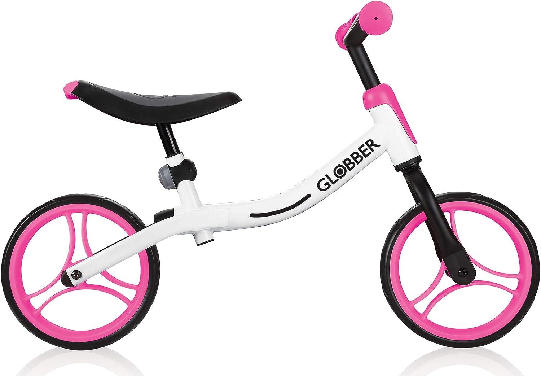Globber Go Bike 610-162 - Bicicleta, Color Blanco y Rosa