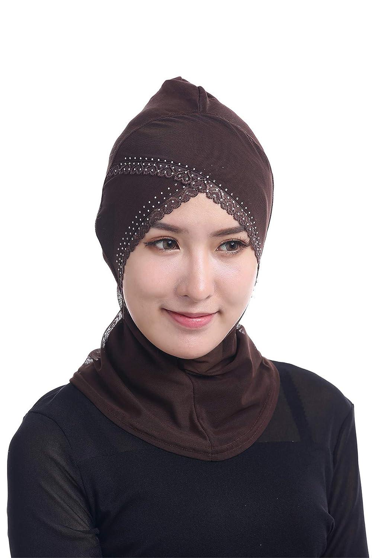 GladThink Para mujer musulmana Red Interior Hijab Café: Amazon.es: Ropa y accesorios