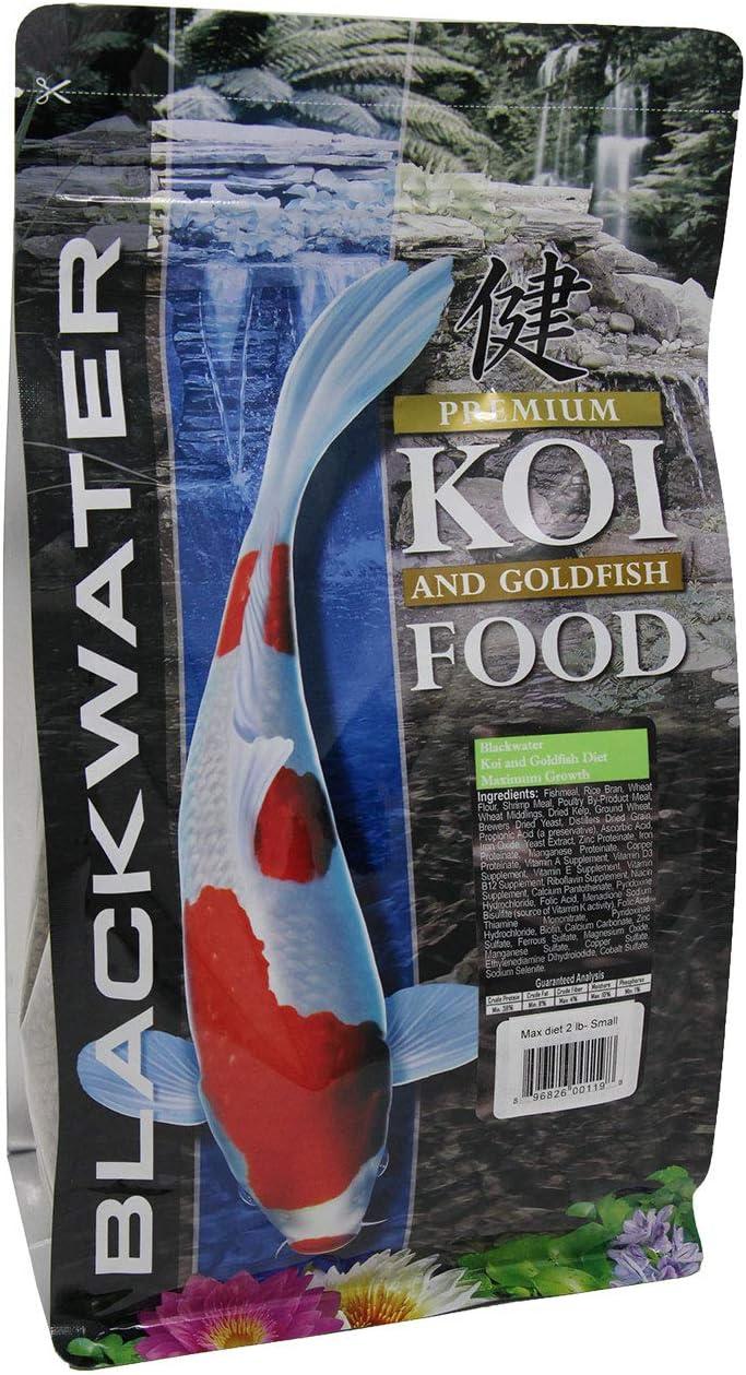 Blackwater Premium Koi and Goldfish Foods Max Growth 2 lb, Medium Pellet