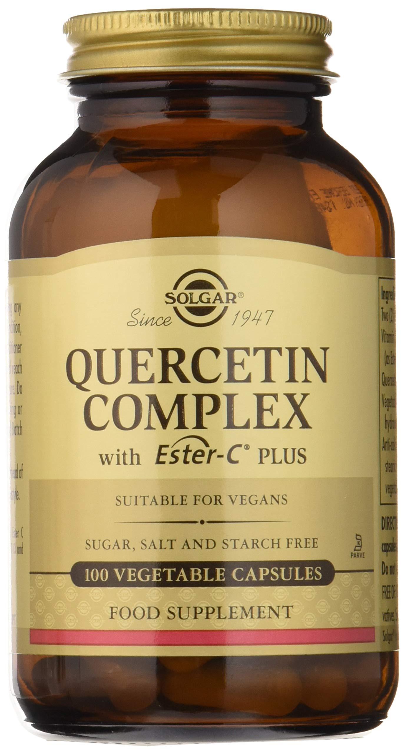 Solgar Quercetin Complex with Ester-C® Plus, Unique Synergistic Formulat Immune Health Support, 100 Vegetable Capsules