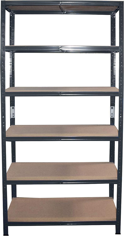 entrep/ôts garage grenier atelier maison shelfplaza/® HOME /Étag/ère charge lourde m/étallique anthracite de 200x100x40 cm avec 6 tablettes