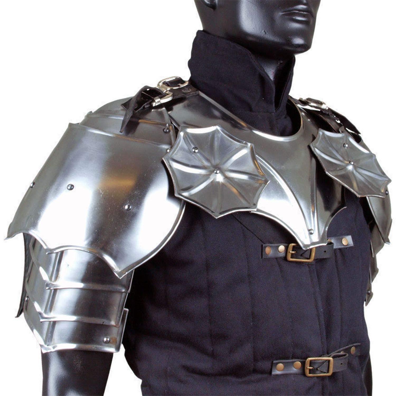 Amazon.com: Historicalhub Gothic Gorget with Steel Pauldrons ...
