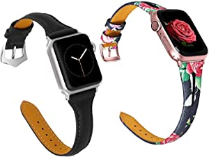 1PCS Classy band and 1PCS Floral band for Apple Watch 38mm 40mm for Lovers
