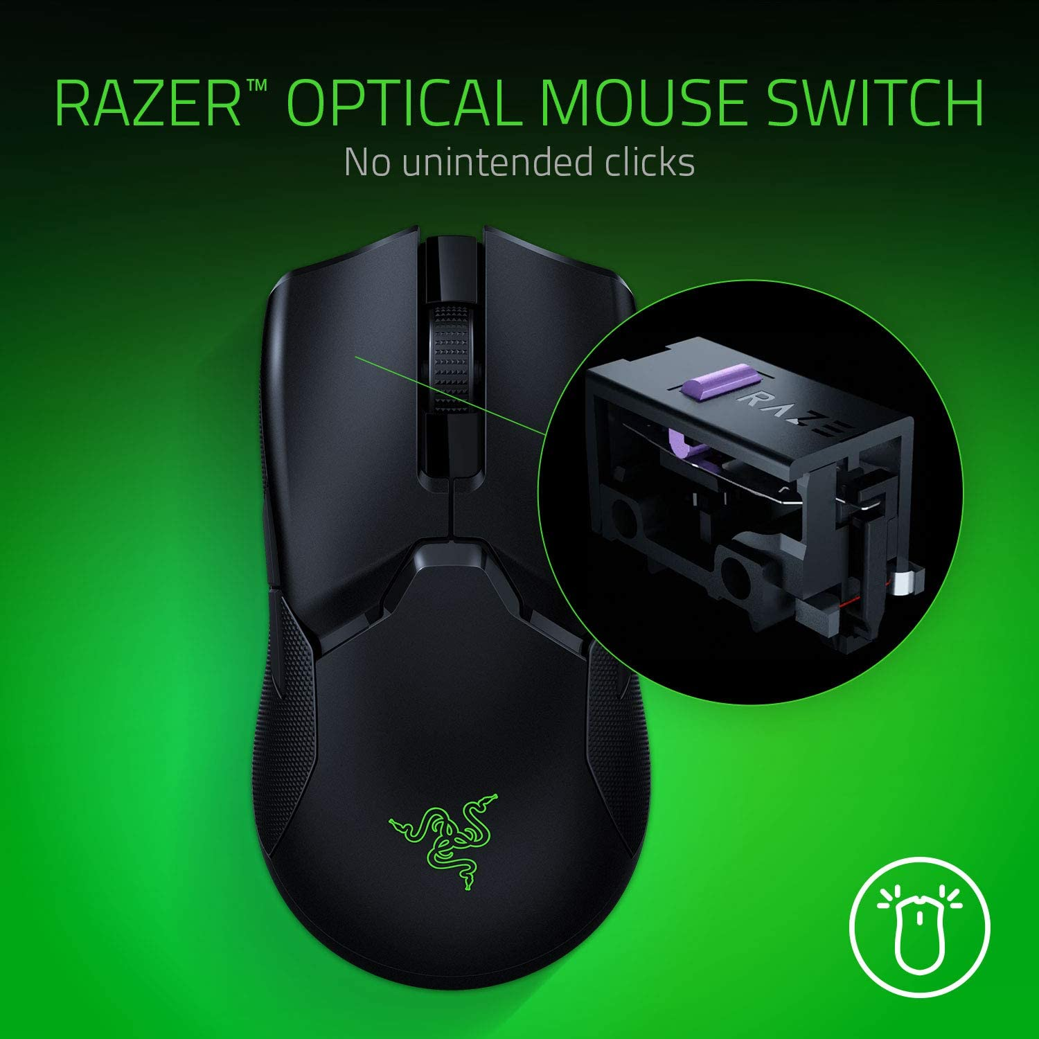 Razer Viper Ultimate Ambidextrous Gaming Mouse with Razer HyperSpeed Wireless - Black 7