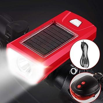 Resplandor de la linterna de carga solar Cuerno super brillante ...