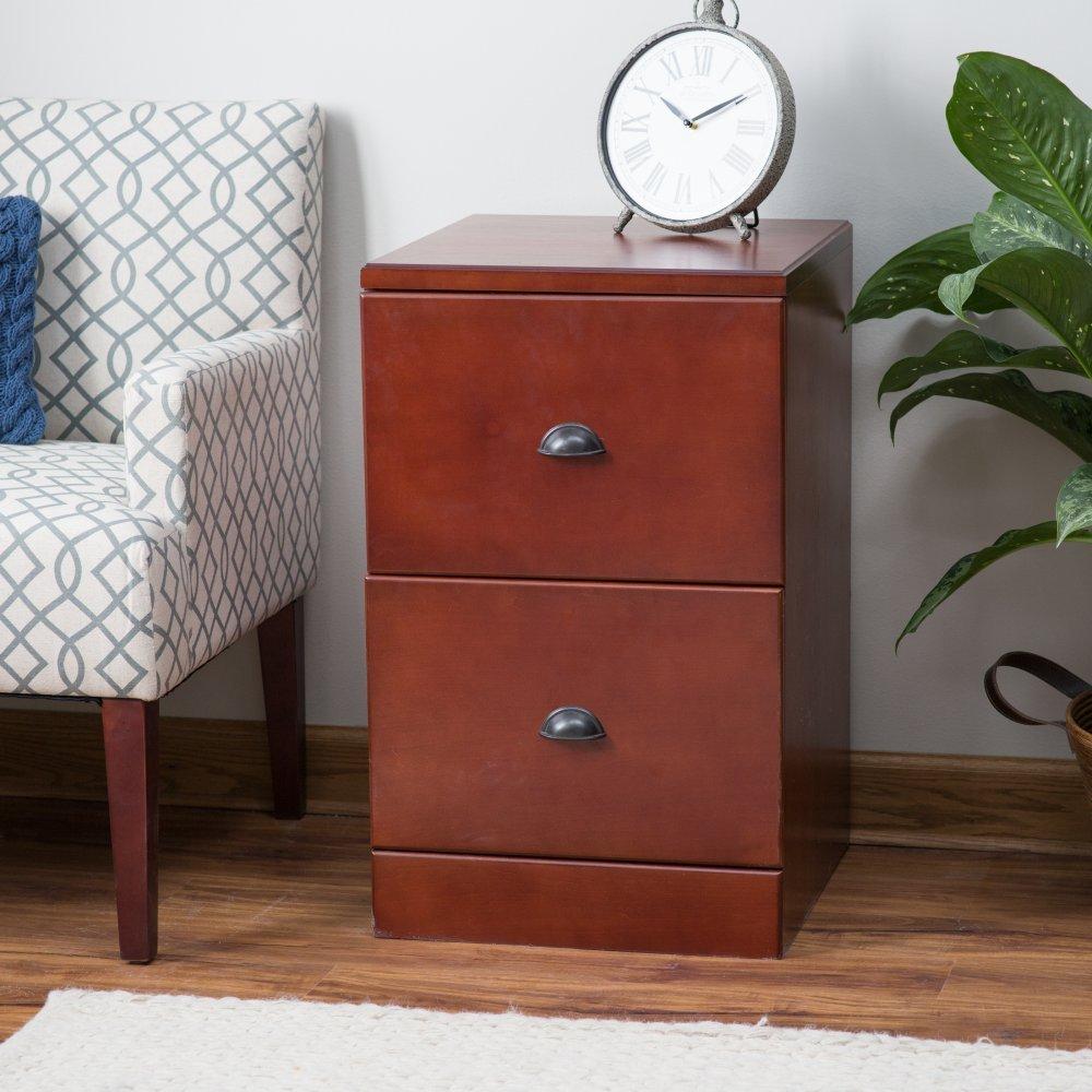 Belham Living Cambridge 2-Drawer Filing Cabinet - Rich Cherry Chin Shu Wooden Ltd