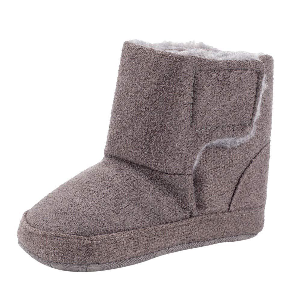Newborn Baby Girls Boys Solid Warm Winter First Walker Soft Sole Boot Shoes Non-Slip Warm Cotton Boots