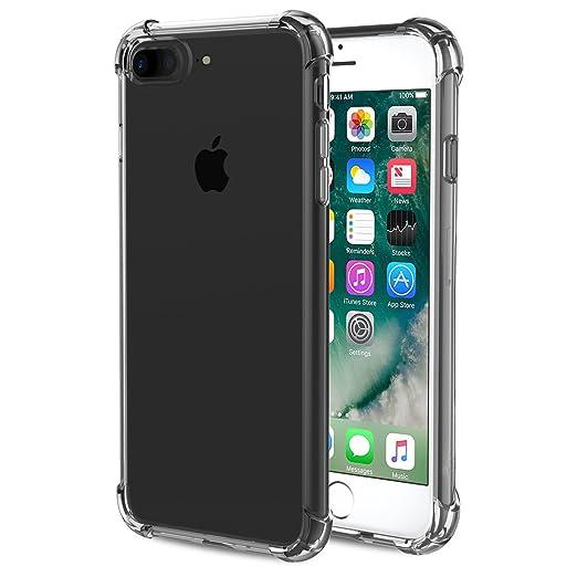 12 opinioni per Custodia iPhone 7 plus, Richoose iPhone 7 plus Crystal Clear flessibile TPU
