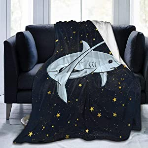 "NOT Adorable Cute Thresher Shark Blanket Wool Sherpa Vacation Throw Blanket University Dormitory Travel Soft Warm 4 Seasons Available for Kids-50""x40"""