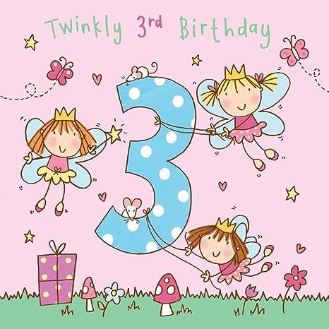 Amazon Twizler 3rd Birthday Card For Girl With Fairy Princess