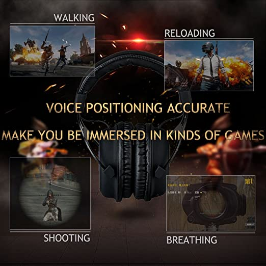 Gaming Headset with Mic, Noise Cancellation Surround Sound