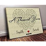 A Thousand Years Part 2 Script Heart Song Lyric Art Gift Print