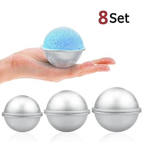 Moldes para hacer bombas de baño, 3 tamaños y 16 piezas, de ZesGood