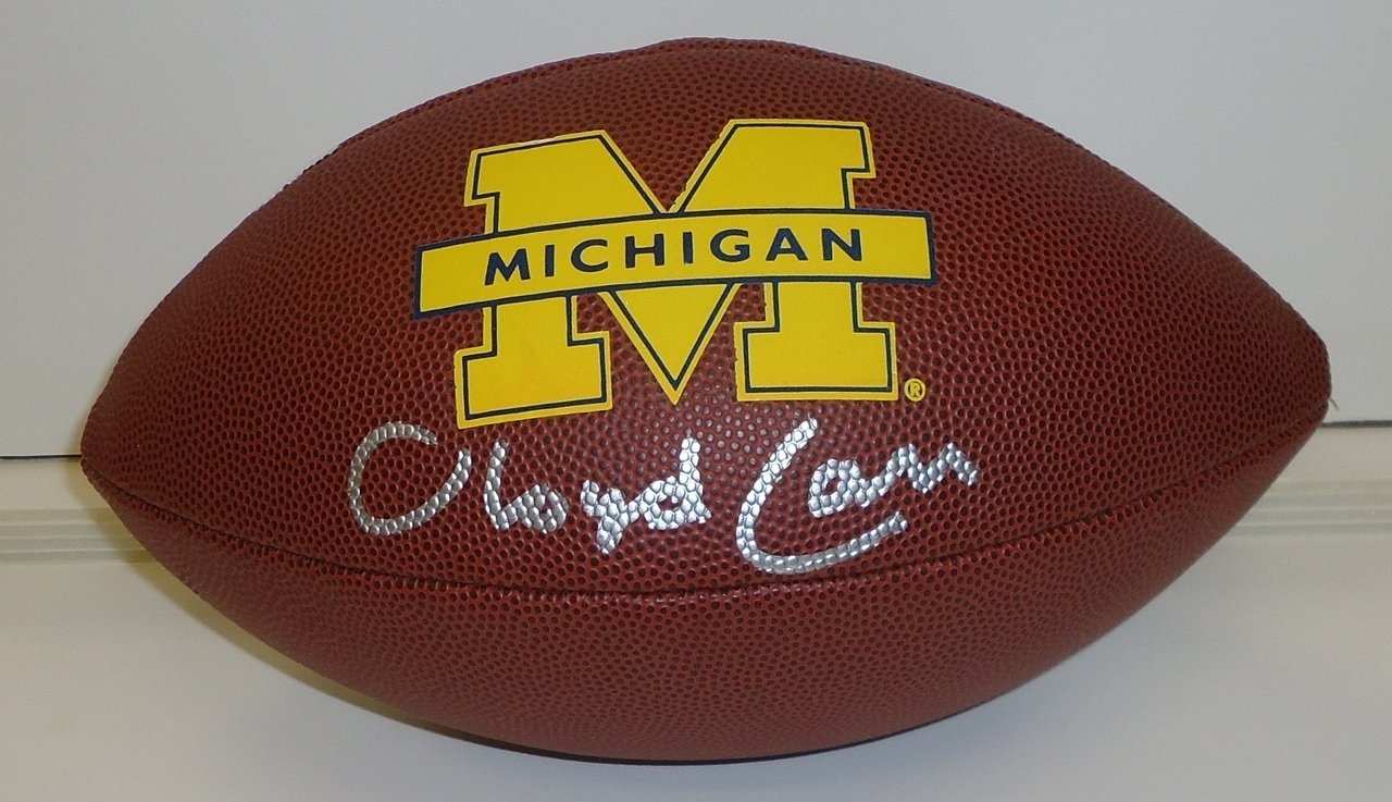 Lloyd Carr Autographed Michigan Wolverines Football
