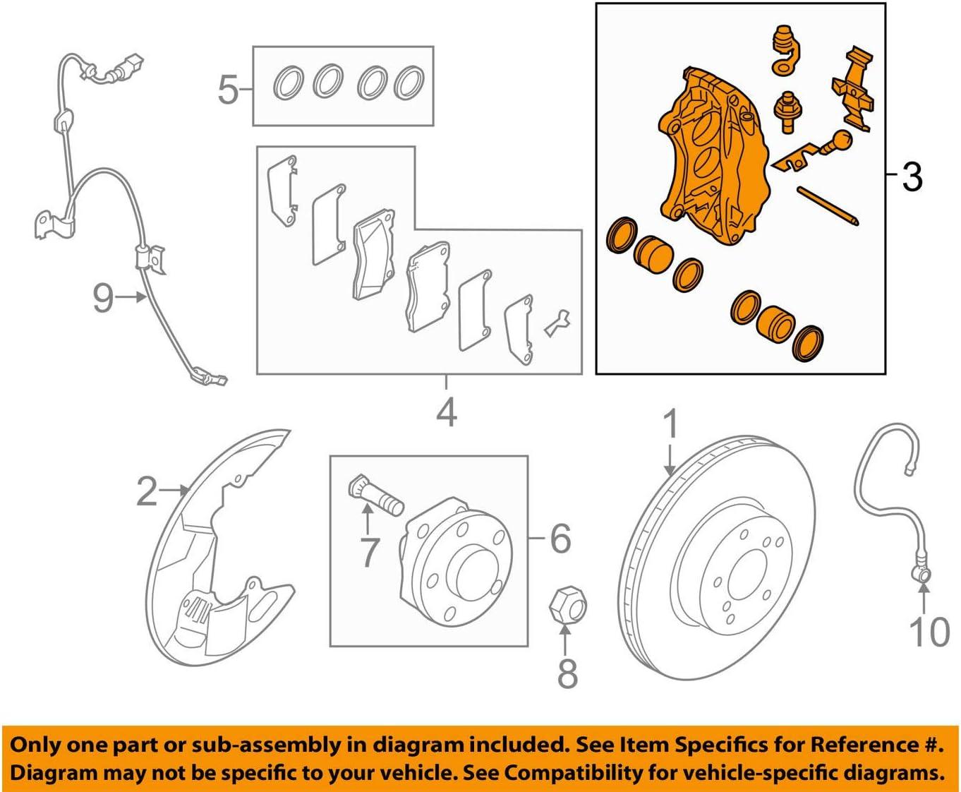 amazon.com: 08-17 subaru impreza wrx sti front left disc brake kit oem new  26292fg011: automotive  amazon.com