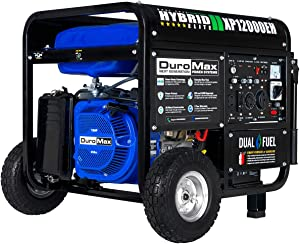 DuroMax XP12000EH Dual Fuel Portable Generator – 12000 Watt Gas or Propane Powered-Electric Start