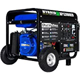 DuroMax XP12000EH 12000-Watt 18 HP Portable Dual Fuel Electric Start Generator,Blue and Black