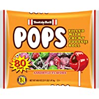 Tootsie Roll  Pops Assorted Flavors, 80 Count Bag