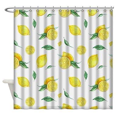 Harriet Mond Fresh Lemon Shower Curtain Bathroom Shower Curtain Machine Washable,60 X 72 Inch