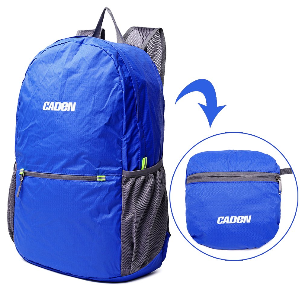 Ultra Lightweight Packable Backpack Water Resistant Hiking Daypack,Small Backpack Handy Foldable Camping Outdoor Backpack Little Bag(Blue)
