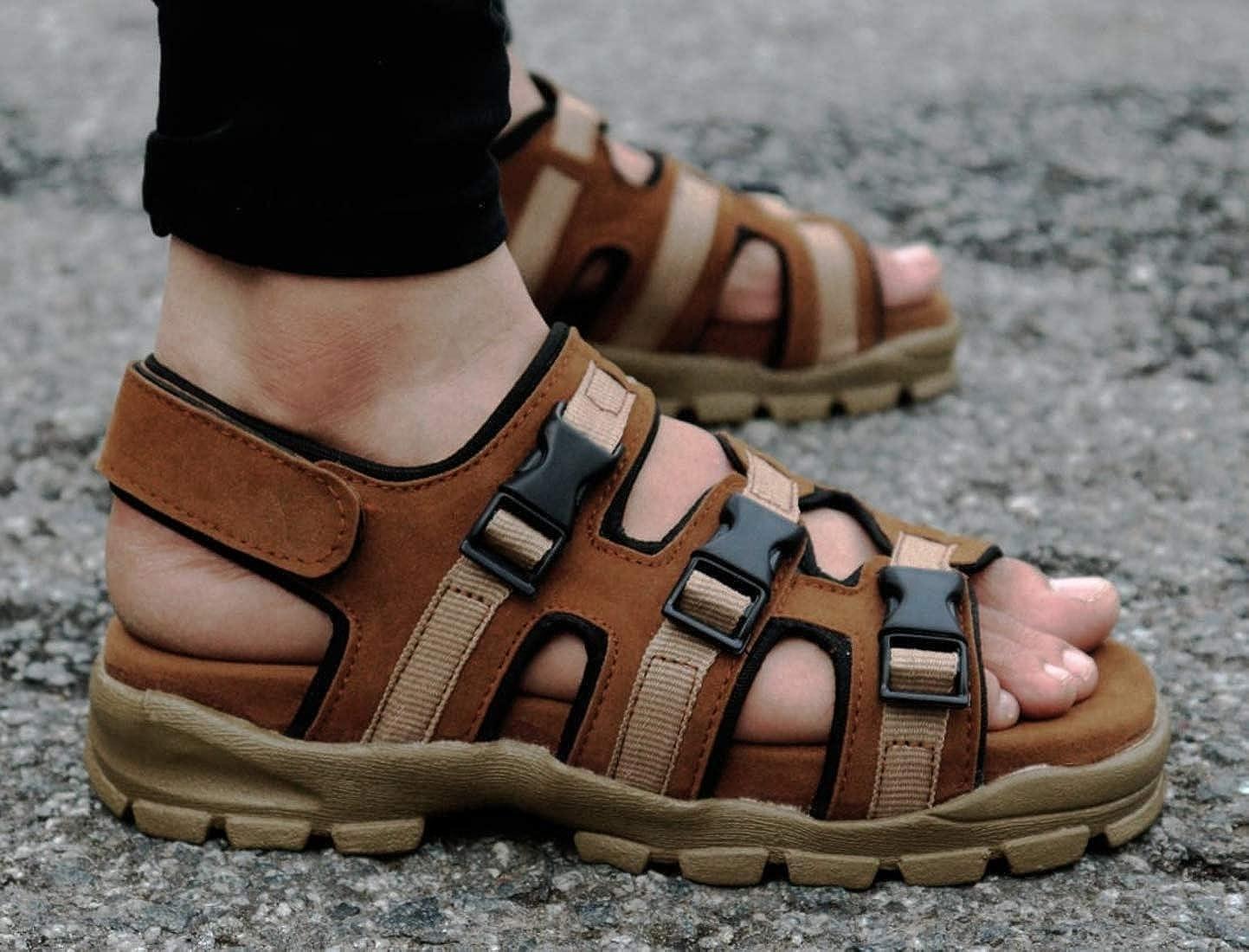 Dakarr Men's 201 Sandal Tan: Amazon.in: Shoes & Handbags