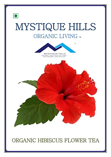 Mystique Hills Organic Shade Dried Whole Hibiscus Flower Herbal Tea